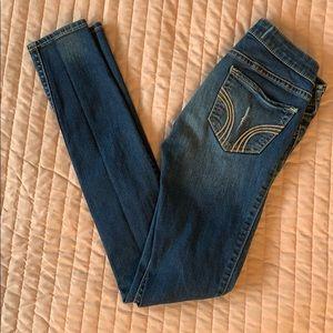 Destroyed Denim Low Rise Jean Leggings